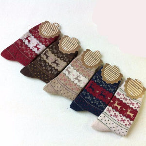 5 Pairs Pack Cashmere Winter Socks  - Kwikibuy Amazon Global