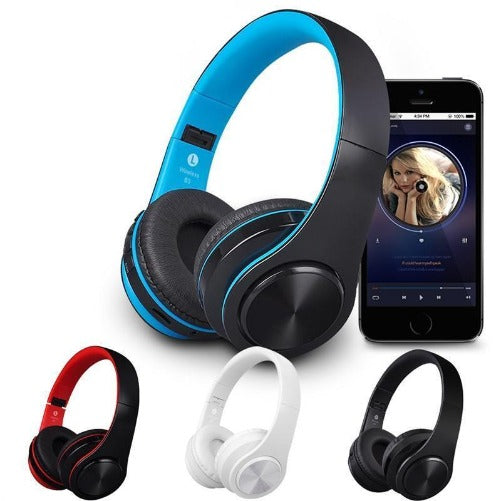 Wireless Bluetooth Stereo Soft Earmuff Headset (Black & Black, Blue, White or Red 4 colors) - Kwikibuy.com™® Official Site