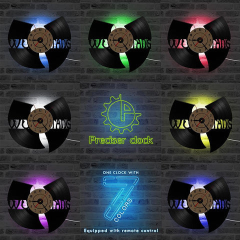 Shop-Now-Handmade-Wu-Tang-Clan-LED-3D-Vinyl-Record-Wall-Clock-Kwikibuy.com-Clock