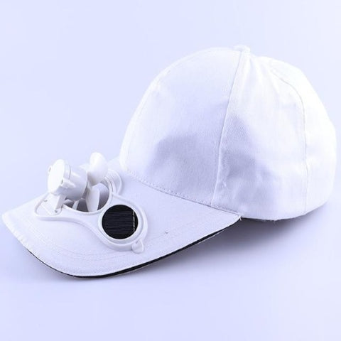 Solar Power Cooling Fan Baseball Hat (White) - Kwikibuy Amazon