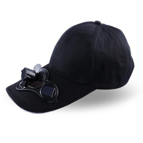 Solar Power Cooling Fan Baseball Hat (Black) - Kwikibuy Amazon