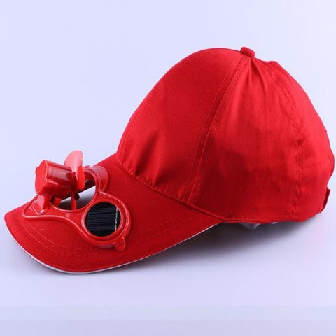 Solar Power Cooling Fan Baseball Hat (Red) - Kwikibuy Amazon