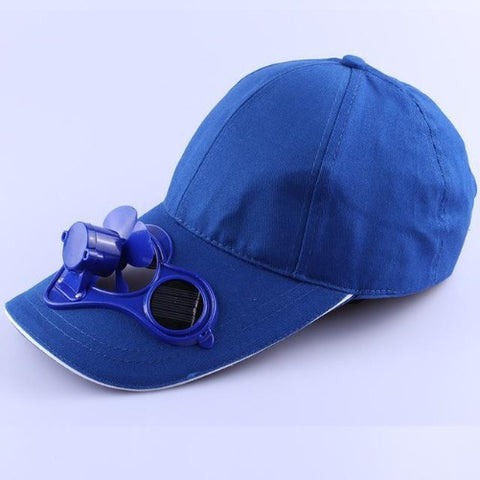 Solar Power Cooling Fan Baseball Hat (Blue) - Kwikibuy Amazon
