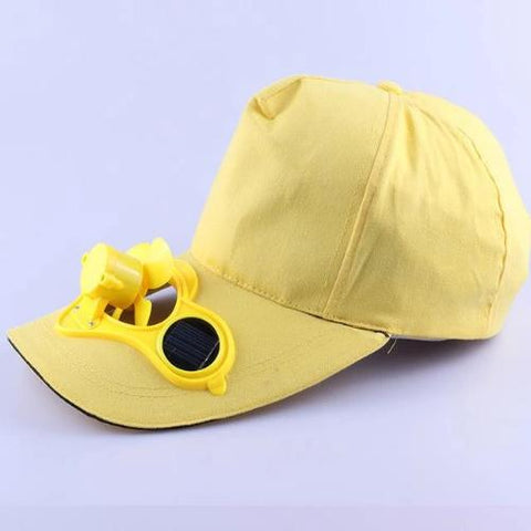 Solar Power Cooling Fan Baseball Hat (Yellow) - Kwikibuy Amazon