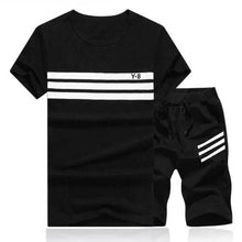 Load image into Gallery viewer, Striped Short Set (Black)  - Kwikibuy Amazon Global