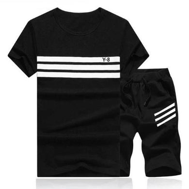 Striped Short Set (Black)  - Kwikibuy Amazon Global