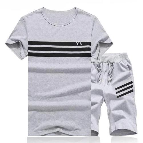 Striped Short Set (Grey) - Kwikibuy Amazon