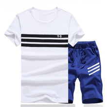 Load image into Gallery viewer, Striped Short Set (White Black)  - Kwikibuy Amazon Global