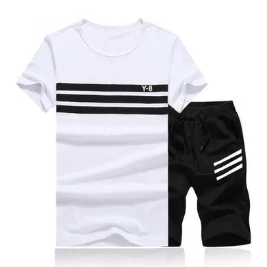 Striped Short Set (White Black)  - Kwikibuy Amazon Global