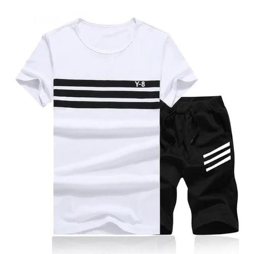 Striped Short Set (White Black) - Kwikibuy Amazon