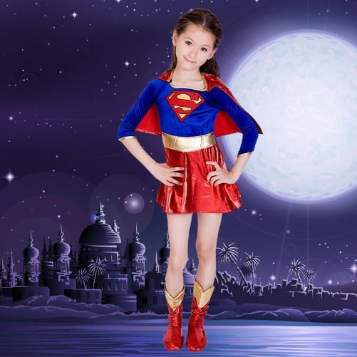 🎃 Supergirl Halloween Costume  - Kwikibuy Amazon Global Online S Hopping Mall Material: Polyester Occasion: Halloween Brand new and high quality Size Chart