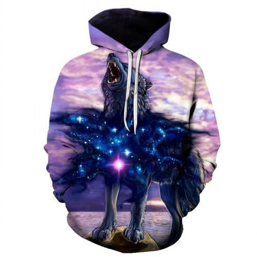 3D Galaxy Print Pullover Hoodies (W.O.L.F.) | Kwikibuy Amazon Global | All | Men | Women | Jacket | Outerwear