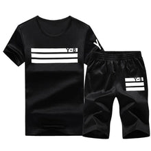 Load image into Gallery viewer, Sporting Short Set (White Black)  - Kwikibuy Amazon Global