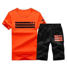 Load image into Gallery viewer, Sporting Short Set (Orange Black)  - Kwikibuy Amazon Global