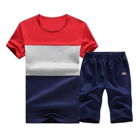 Sporting Short Set (Red White Dark Blue) - Kwikibuy Amazon