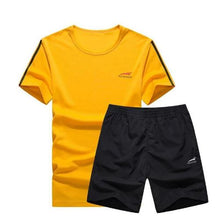 Load image into Gallery viewer, Cool Color Short Set (Yellow with Black)  - Kwikibuy Amazon Global