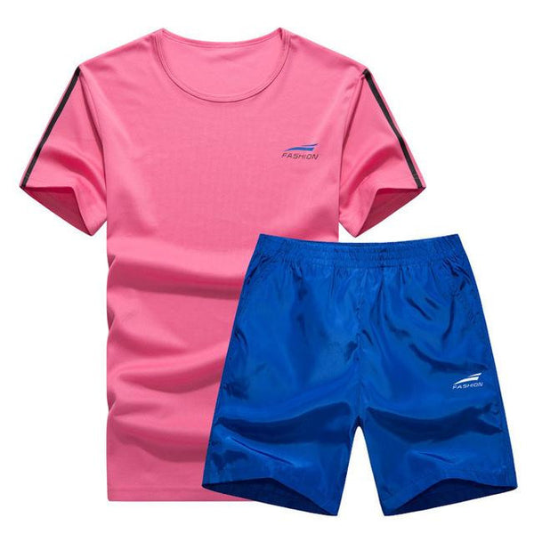 Cool Color Short Set (White with Blue)  - Kwikibuy Amazon Global