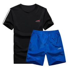 Load image into Gallery viewer, Cool Color Short Set (Black with Blue)  - Kwikibuy Amazon Global