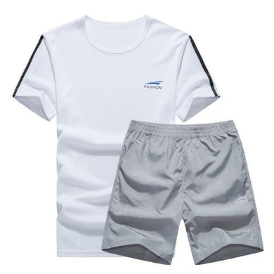Cool Color Short Set (White with Grey)  - Kwikibuy Amazon Global