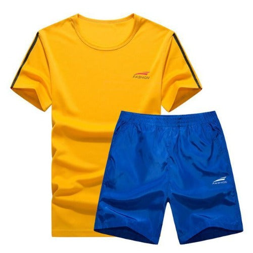 Cool Color Short Set (Yellow with Blue)  - Kwikibuy Amazon Global