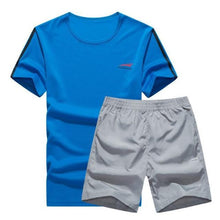 Load image into Gallery viewer, Cool Color Short Set (Blue with Grey)  - Kwikibuy Amazon Global