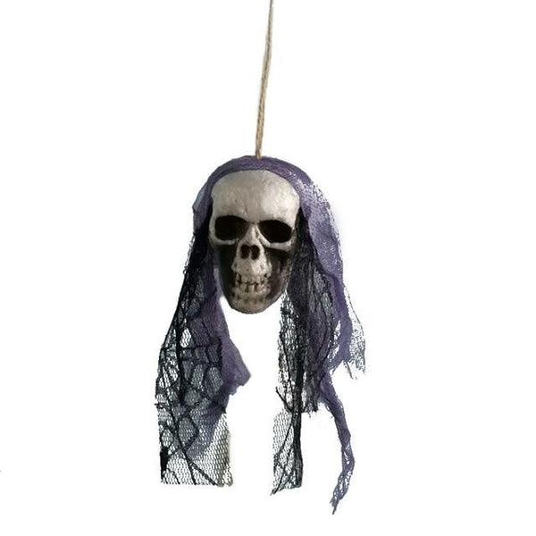 #3 of 8 Hanging Halloween Skulls | Kwikibuy Amazon | United States | Halloween | Hanging | Decoration | figurines | Skull