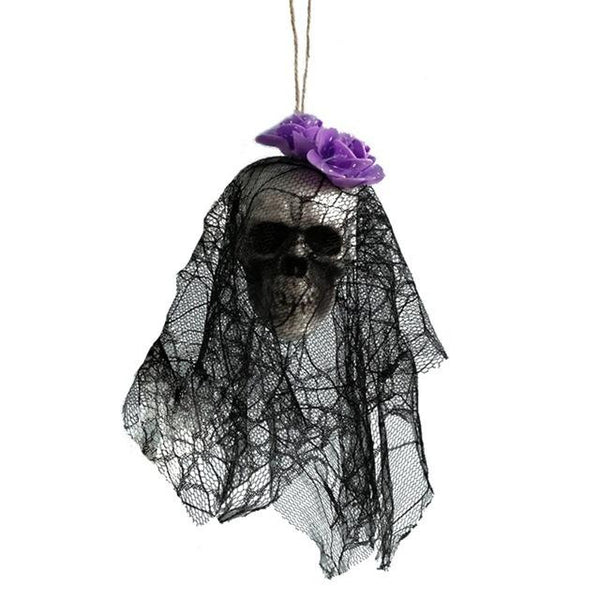 #7 of 8 Hanging Halloween Skulls | Kwikibuy Amazon | United States | Halloween | Hanging | Decoration | figurines | Skull