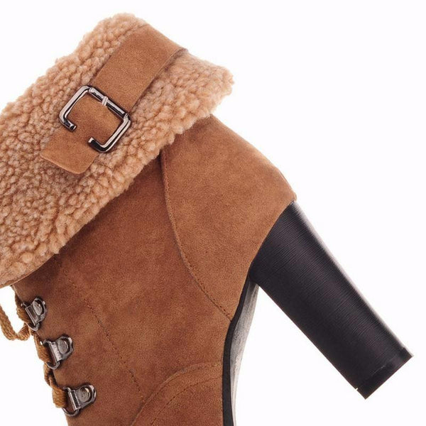 Women's High Heel Snow Boots (Side view) | Kwikibuy Amazon | United States | All | Women | Fashion | Clothing | Boots | Shoes