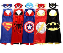 Load image into Gallery viewer, 🎃 All 5 Superhero Cape and Mask Sets  - Kwikibuy Amazon Global Online S Hopping Mall Material: Satin Occasion: Halloween or Masquerade Brand new set