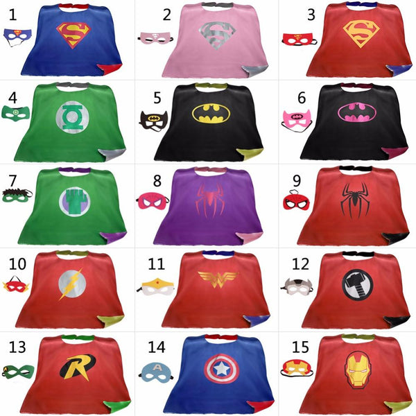 Superhero Cape and Mask Sets (15 Superhero Costume Sets) | Kwikibuy Amazon | United States | Halloween | Super Hero | Capes | Masks