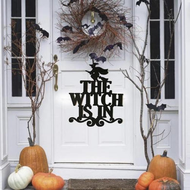🎃 Halloween Hanging Signs (The Witch Is In)  - Kwikibuy Amazon Global Online S Hopping Mall Color: As shown in pictures Material: Non-woven Fabrics