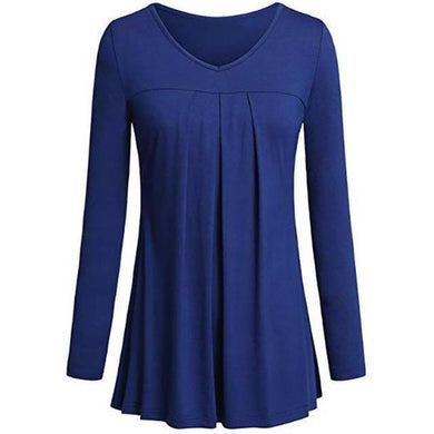 Tunic-Pleated-Top-Blue  - Kwikibuy Amazon Global