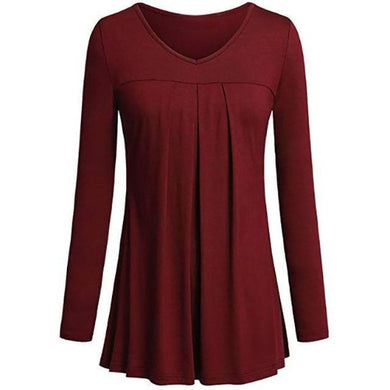Tunic-Pleated-Top-Red  - Kwikibuy Amazon Global