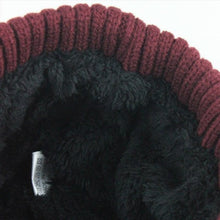 Load image into Gallery viewer, Knitted-Hat-Collar-Scarf-Set-Burgundy  - Kwikibuy Amazon Global