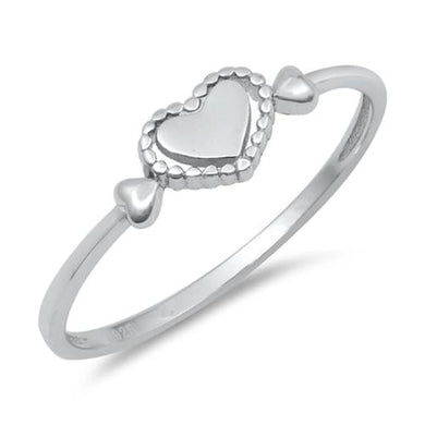 🍀 Hearts Ring Solid 925 Sterling Silver *7) Sizes)  - Kwikibuy Amazon Global