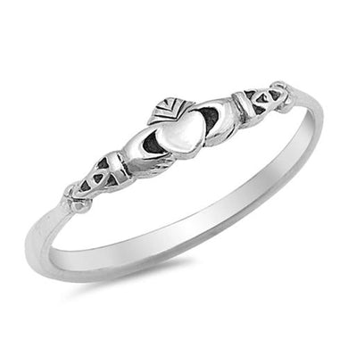 🍀 Celtic Heart Ring Solid 925 Sterling Silver (9 Sizes)  - Kwikibuy Amazon Global