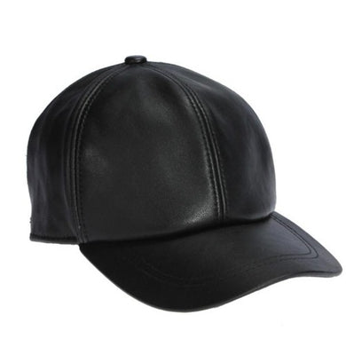 Genuine-Sheepskin-Leather-Adjustable-Cap-Black  - Kwikibuy Amazon Global