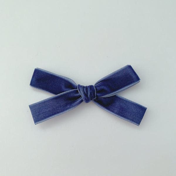 MINI MARINE VELVET BOW