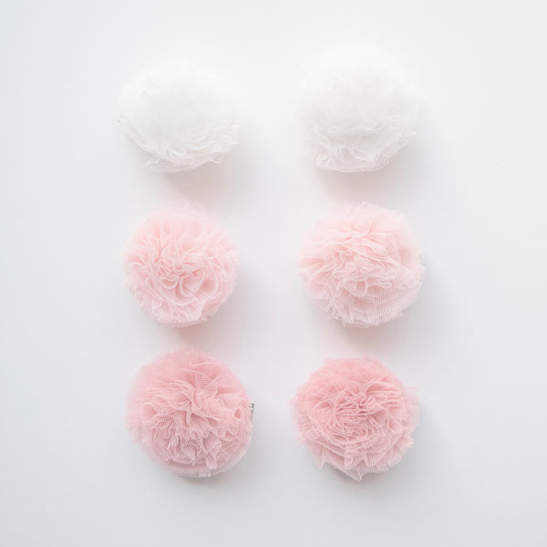 Tulle Pom Pom Clips (Set of 2)