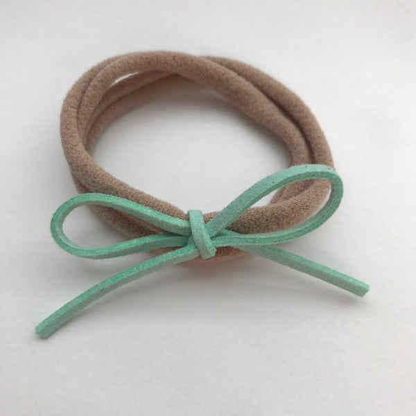 MINT SUEDE BOW