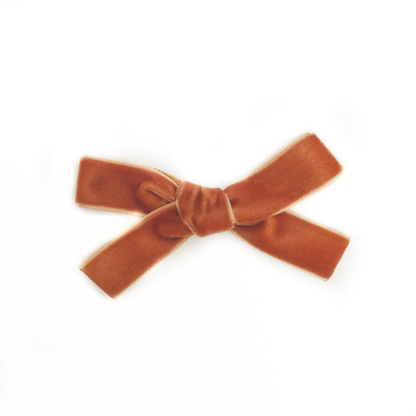 MINI CARAMEL VELVET BOW