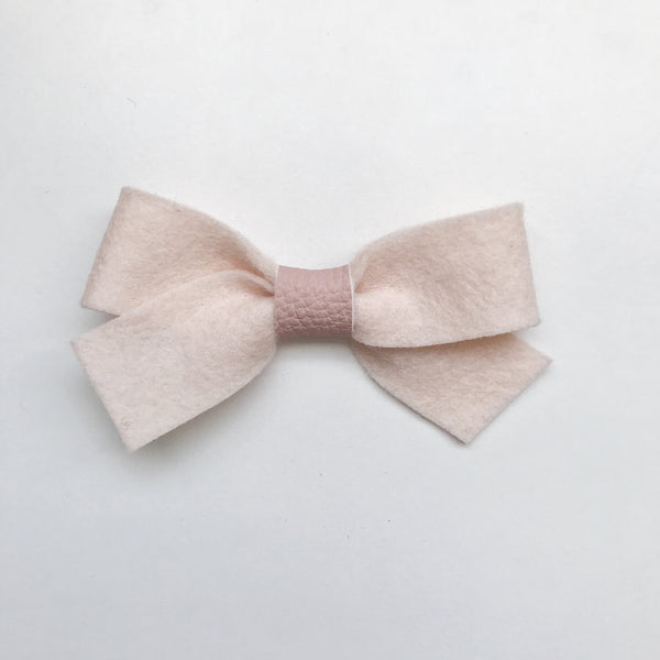 BABY PINK LUXE FELT BOW
