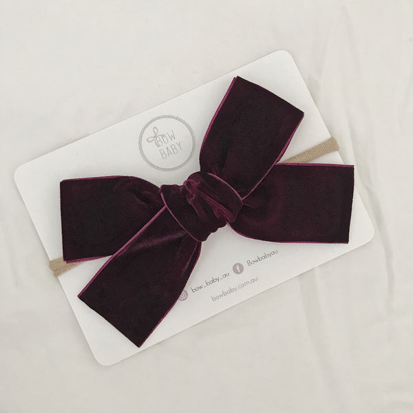 Big Bow Burgundy Velvet