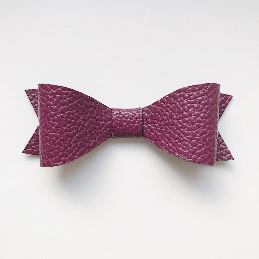 BURGUNDY CLASSIC BOW