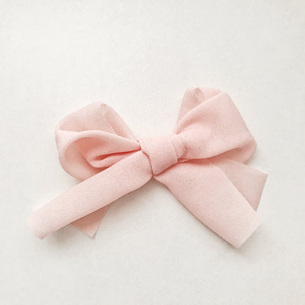 Georgette Pink Bow