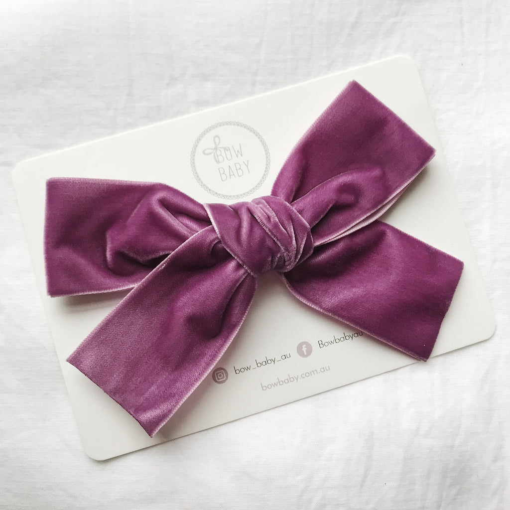 BIG BOW GRAPE VELVET
