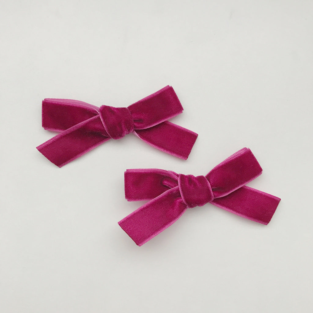 MINI WINE VELVET BOW