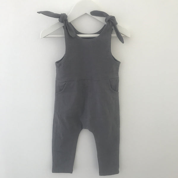 Stretch Grey Overalls
