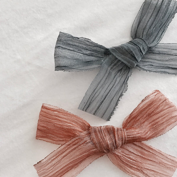 Crinkle Organza Bow