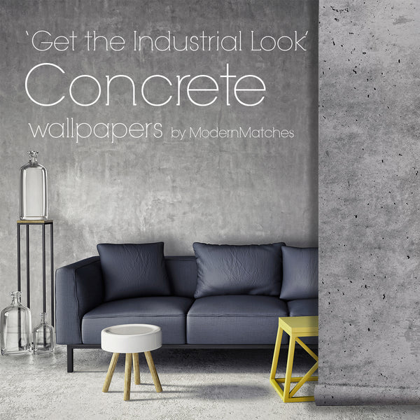 'The Industrial Look', Concrete Wallpaper.